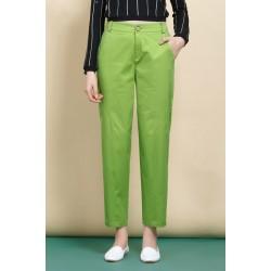 Green Loose Pencil Pants